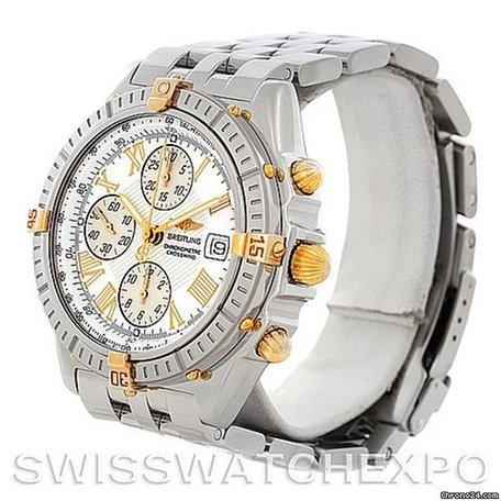 Gold Big Face Breitling Watch
