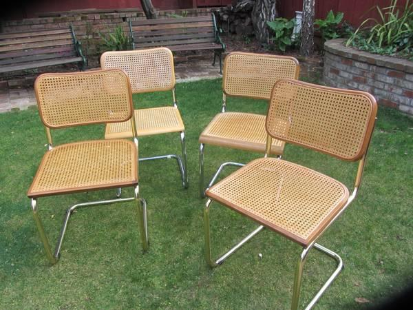 Breuer Cane Seat Chairs For Sale In San Mateo