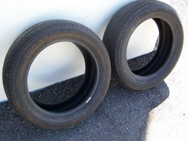 Bridgestone Turanza tires P215/55 R17 set of 2 - $5