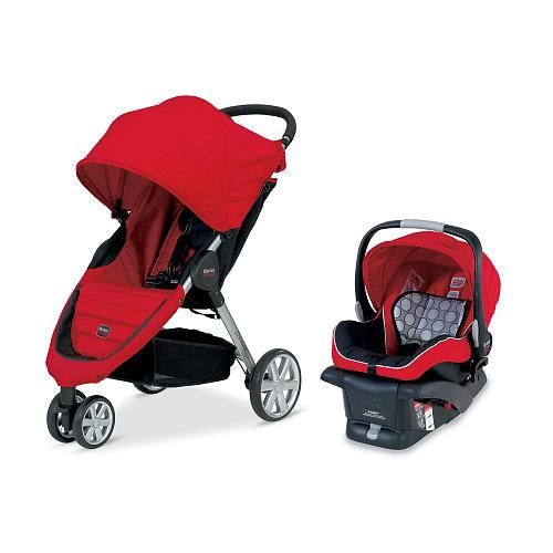 Britax B-Agile Travel System Stroller - Red