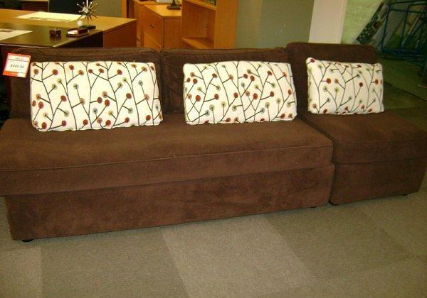 Brown Armless Sofa & Chair McKnight Rd Pgh for Sale in