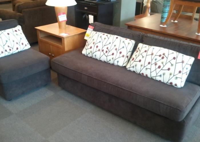 Brown Armless Sofa & Chair Set McKnight Rd Pgh for