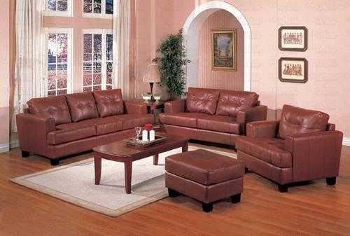 Brown Bonded Leather Sofa And Loveseat New For Sale In
