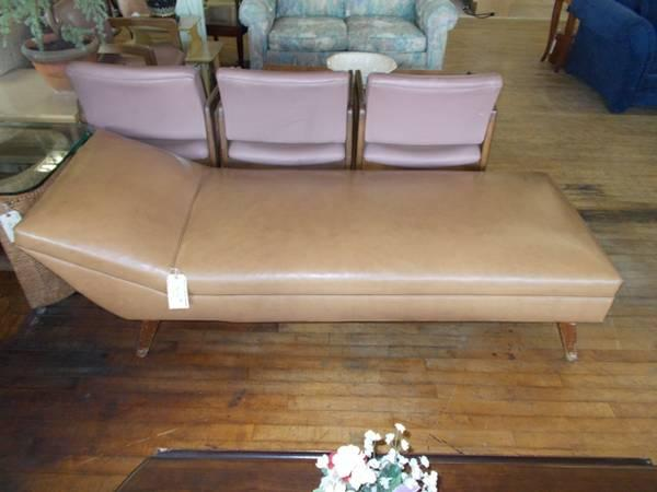 Brown Chaise Lounge Mid Century Style For Sale In Greenwich Pennsylvania Classified