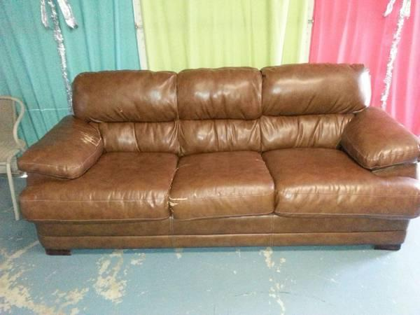 brown leather loveseat for sale
