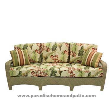 Brown Jordan Outdoor Wicker Sofa Coffee Table Love Seat