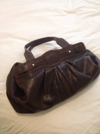 brown leather coach purse - $150