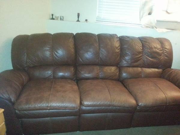 brown leather couch for sale in colorado springs colorado classified. Black Bedroom Furniture Sets. Home Design Ideas
