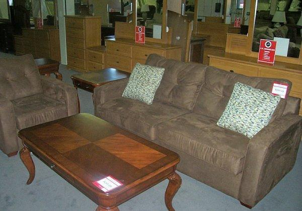 Brown Microfiber Couch and Chair - $449 (McKnight