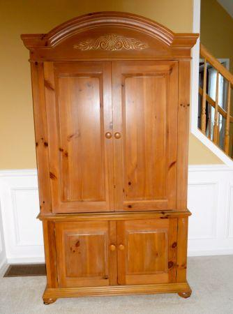 broyhill armoire entertainment cabinet victor ny. Black Bedroom Furniture Sets. Home Design Ideas