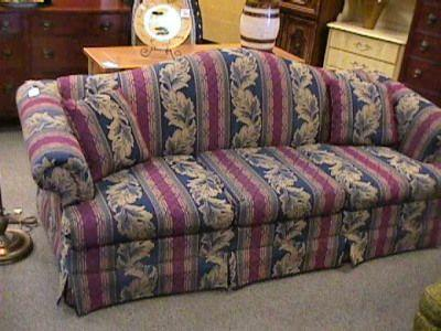 Broyhill Blue Burgundy Green Sofa Couch Miamisburg For