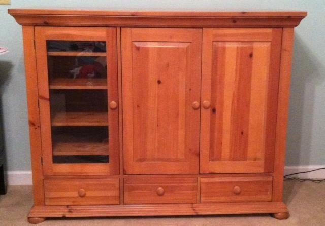 Broyhill Entertainment Center Wood