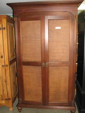 Quot Broyhill Furniture Quot Wood And Wicker Armoire For Sale In