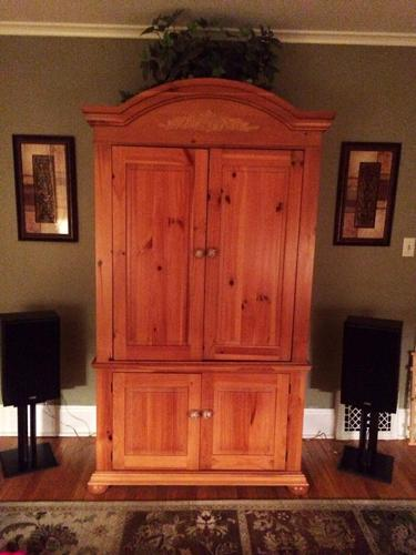 broyhill tv armoire entertainment center for sale in. Black Bedroom Furniture Sets. Home Design Ideas
