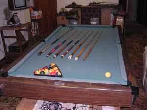 Brunswick Bristol 8 39 Slate Pool Table Marcellus For Sale In Kalamazoo Michigan Classified