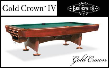 Brunswick Gold Crown IV 4x8 Oversized Professional Pool