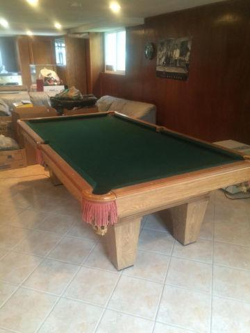 Brunswick Pool Table With BallsCues PingPong Top And Accessories - New brunswick pool table