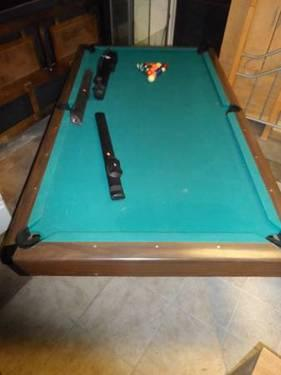 Brunswick regulation size table 8ft great condition w cue for Table 6 greensboro nc