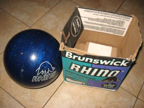 Brunswick Quot Rhino Quot Cobalt Blue Bowling Ball 16 Pounds