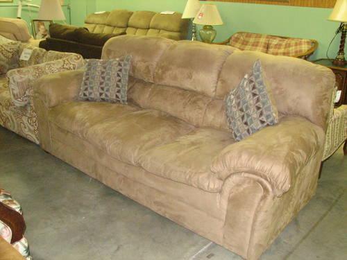 Buckskin Color Microfiber Sofa For Sale In Fort Wayne
