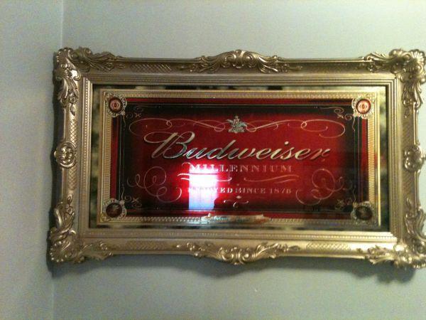 Budweiser Millennium Mirror Flint For Sale In Flint