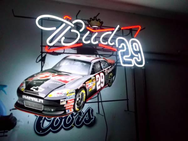 Budweiser Nascar Kevin Harvick Neon Sign For Sale In