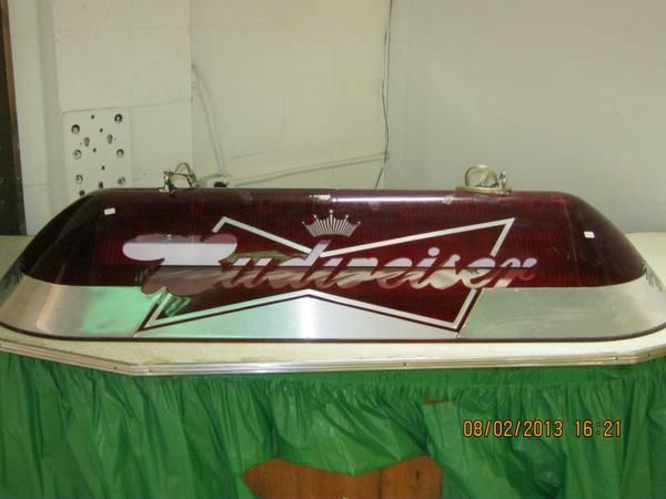 Budweiser pool table light - $150