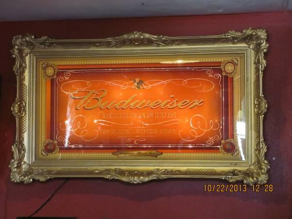 Budweiser Rare Millenium Mural Light Up Sign Huge For