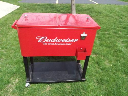 Budweiser Stainless Steel Patio Cooler With Wheels For Sale In South Elgin,  Illinois