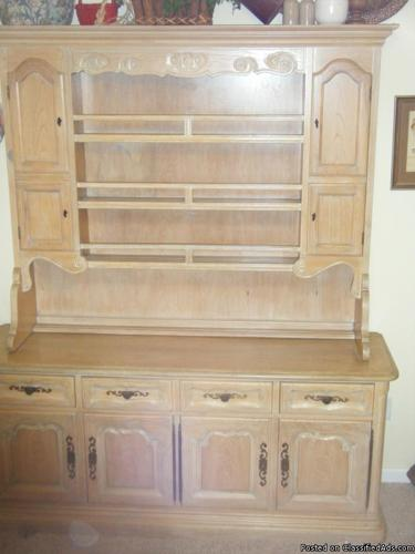 Buffet Hutch-pickled or white washed solid oak