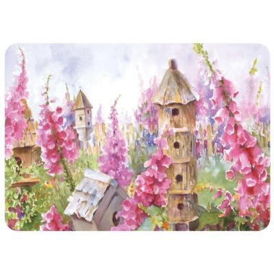 Bungalow Flooring Foxgloves and Birdhouse 22 in. x 31