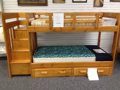 Bunk Bed Set Twin Over Twin With Reversible Stairs All