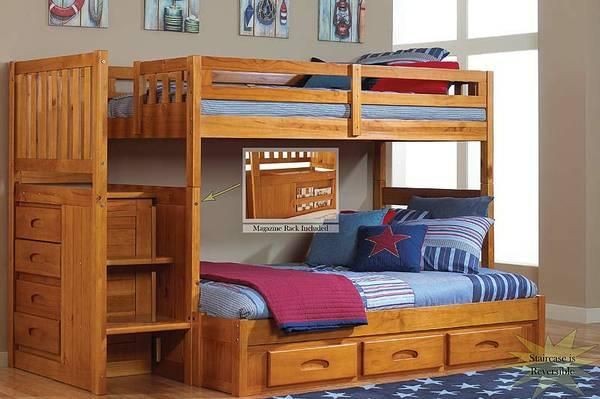 bunk bed twin over full staircase bunk beds for sale in jacksonville florida classified. Black Bedroom Furniture Sets. Home Design Ideas