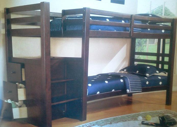 Bunk Bed With Stairs And Mattresses Romeos Zero Down