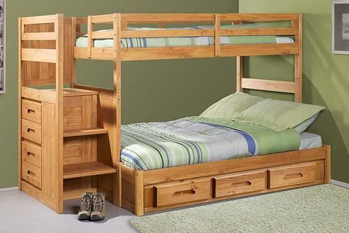 Bunk Bed With Stairs Solid Wood Brand New For Sale