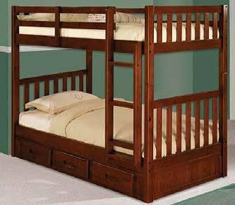 Bunk Beds Kids Furniture Many Colors Solid Wood