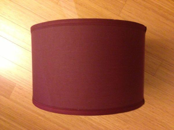 Burgundy Drum Lamp Shade For Sale In Palo Alto