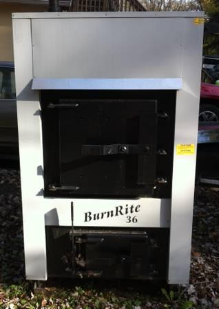 BURNRITE 36 OUTDOOR COAL STOVE - NEW - $5295