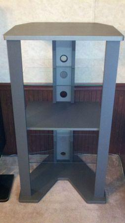 Bush Ad47741 Audio Video Tower V Base Silver Finish Dothan For Sale In Dothan Alabama