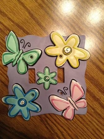 Butterflies and Flowers Double Switchplate - $5