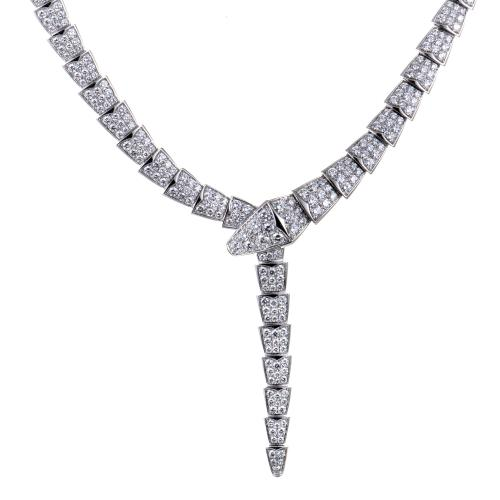 Bvlgari Serpenti Womens 18K White Gold Full Diamond