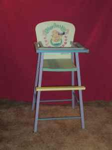 cabbage patch kids high chair - $8 (Ames) in Ames, Iowa For Sale