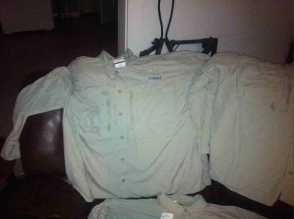 Cabelas long sleeve button down shirt an army pants