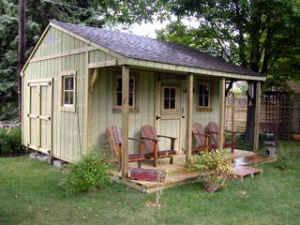 Cabin cottages garden shed and storage building built on for Build on your lot indiana
