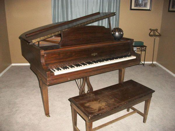 Cable nelson baby grand piano stillwater ok for sale for How big is a grand piano