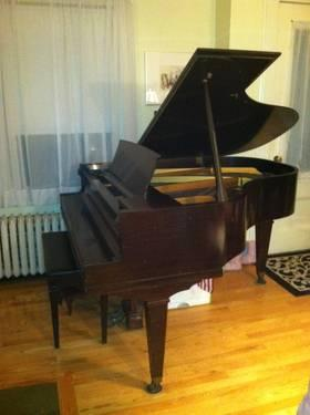Cable nelson baby grand piano needs a new home for sale for How big is a baby grand piano
