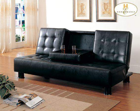 Cool Leather Futon Sofa Bed 249