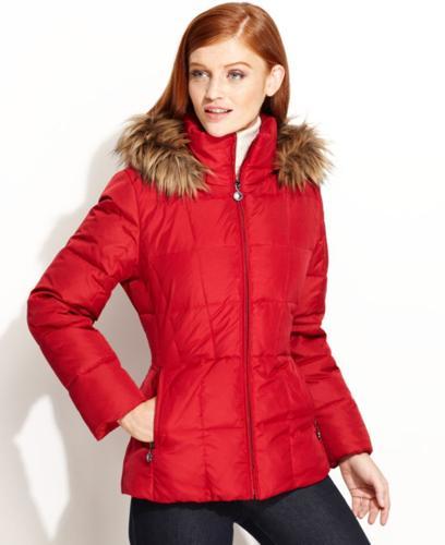 f76298e87 Calvin Klein Faux-Fur-Trim Hooded Puffer Parka Coat for Sale in ...