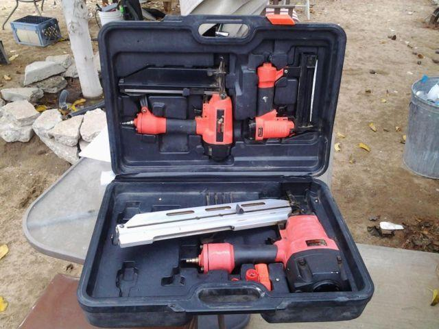 Campbell Hausfeld 3 Nail Gun Set With Case For Sale In