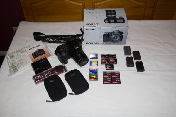 Canon 50D + Lens and Accessories - $675